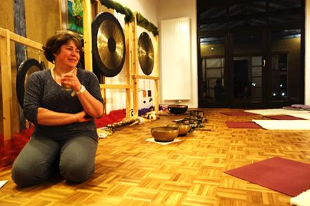 Alles steht bereit für die Klangmeditation
